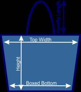 dimensions of tote bag