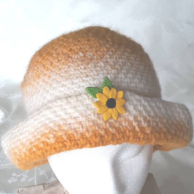 sunflower cloche front button