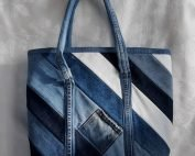 20204 denim tote brass front