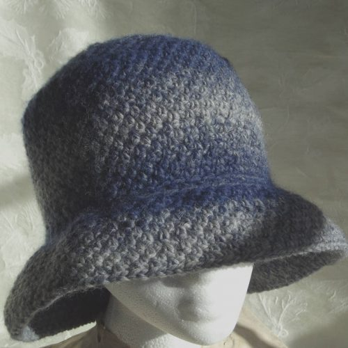 30701 denim cloche hat