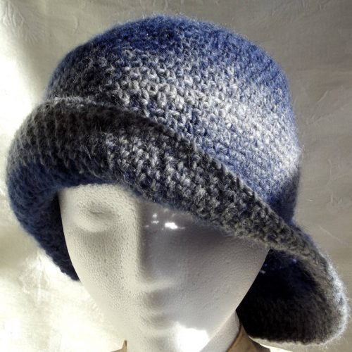 30701 turquoise hat side flip