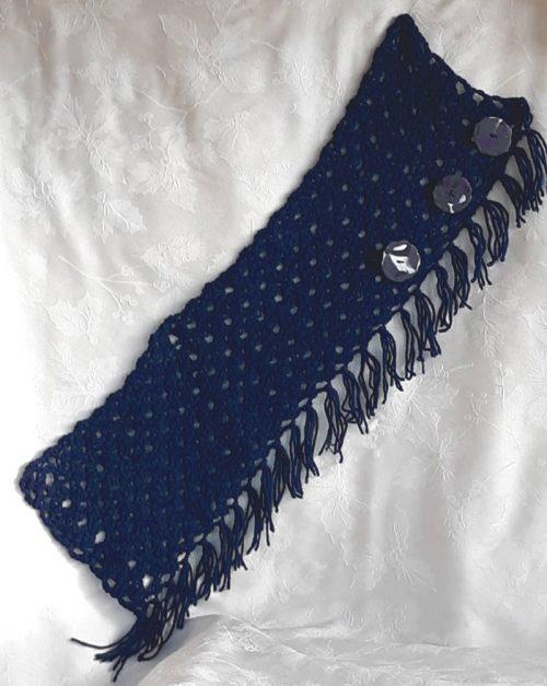 40301 blue scarf flat